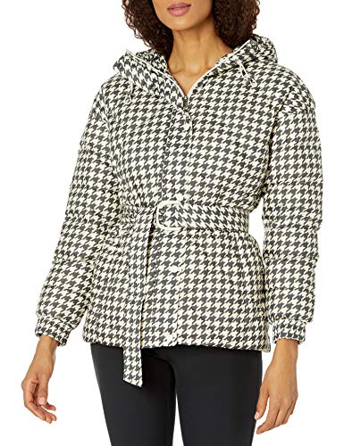 Columbia Damen Icy Heights Belted Jacket Daunenmantel, Kreide Hahnentrittmuster, XXX-Large