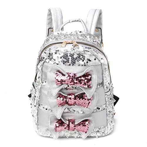 Kimruida Mochila de lentejuelas para mujer, bolso de viaje, mochila escolar (Varios)