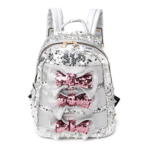 ZZALLL Women Sequins Backpack Mini Shoulder Bag Travel Handbag School Satchel