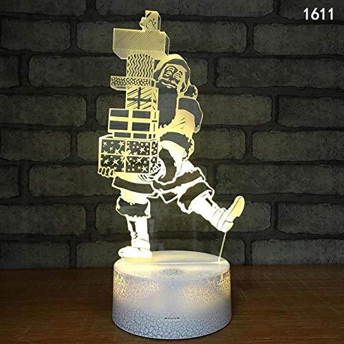 3D-Illusionslampe Led Nachtlicht Hersteller Tischlampe Großhandel Anta Claus Kreative Neuheit Weihnachtsgeschenke Leuchten