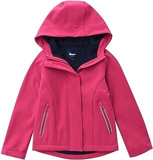 Hiheart Girls Waterproof Hooded Rain Jacket Fleece Lined Softshell Outwear