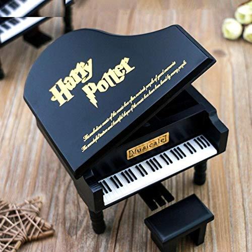 SAMMZN Caja de música de Madera Negra, Decoraciones Antiguas, Cajas de música de...