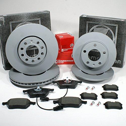 Zimmermann Bremsscheiben PR.Nr. 1LB,1KD Coat Z/Bremsen + Bremsbeläge für vorne + hinten