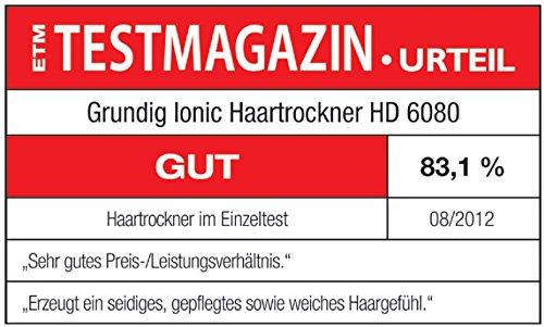 Grundig HD 6080 Ionen-Haartrockner (2200 Watt), schwarz-silber - 4