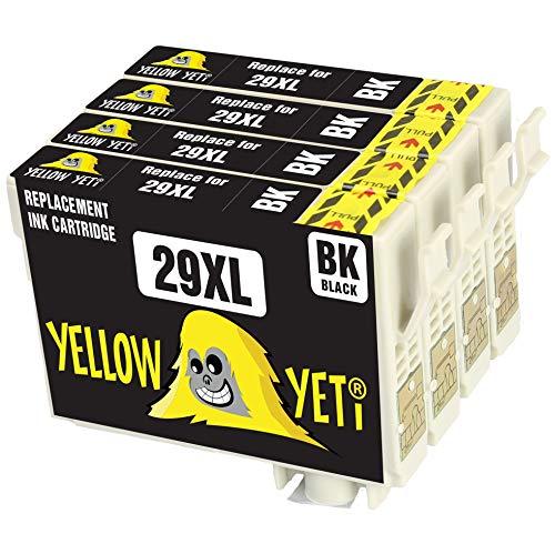 Yellow Yeti Reemplazo para Epson 29 29XL Cartuchos de tinta negro compatible con Epson Expression Home XP-245 XP-247 XP-335 XP-342 XP-352 XP-442 XP-445 XP-452 XP-455 XP-255 XP-257 XP-332 XP-345 XP-355