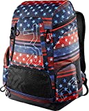 TYR Unisex Adult Alliance 45L Backpack-USA Flag Print, Red/White/Blue, 45 Litre