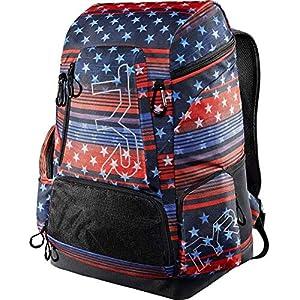 51n4ujHtBDL. SS300  - TYR Mochila unisex con estampado de bandera de Estados Unidos, 45 l, rojo, blanco y azul, 45 litros