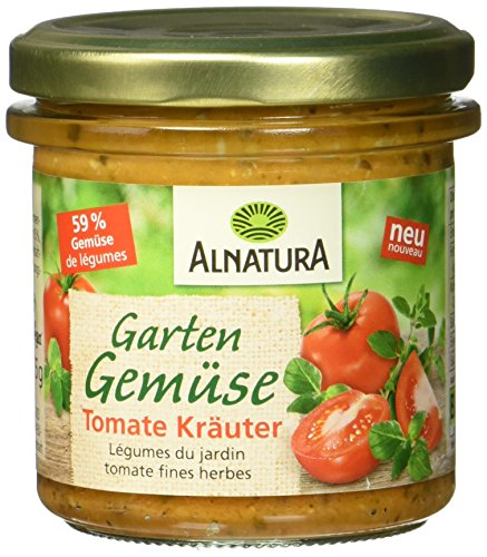 Alnatura Bio Aufstrich Gartengemüse Tomate Kräuter, vegan, 6er Pack (6 x 135 g)