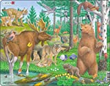 Larsen FH36 La Vida Silvestre del Bosque Boreal del Norte / Taiga, Puzzle de Marco con 29 Piezas