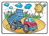 Teorema 64805 - Puzzle da Colorare Camion, 18 Pastelli ad Olio Inclusi, 87 x 58 cm...