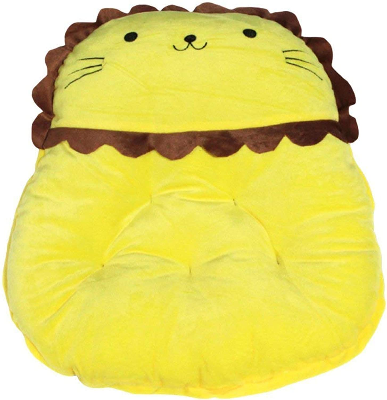 FERZA petsuppliesmisc Shaped Puppy Kitten Mats Sofa Pet Bed Blanket Pet Bed Ultra Soft Dogs Cats Cushion Animals (Yellow, S  47  45  8cm)