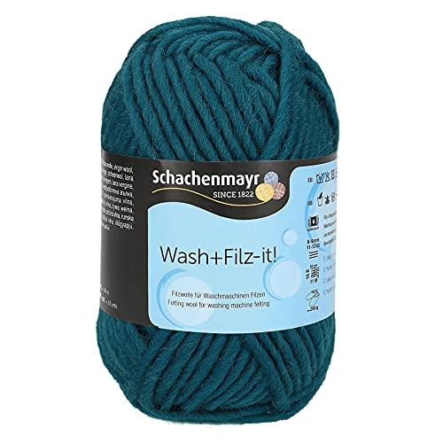 Schachenmayr since 1822 Hilo de fieltro 9812942-00049, 100% lana virgen, color azul, talla única