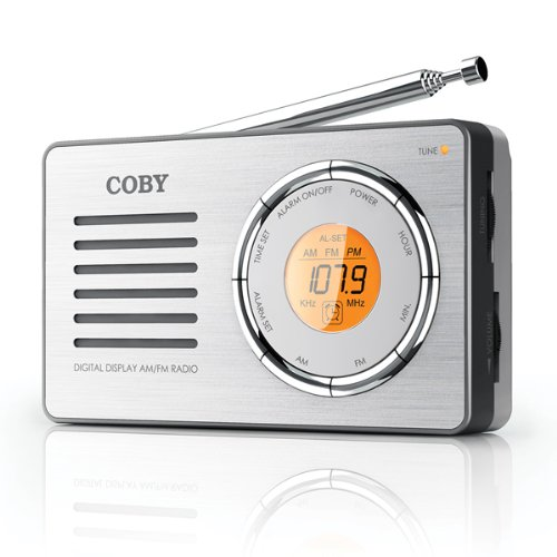 Coby CX50 Compact AM/FM Radio with DDigital Display