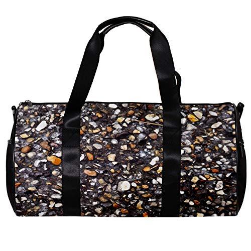 Bolsa de deporte redonda para gimnasio con correa de hombro desmontable Riverside Stone Training Bag para mujeres y hombres