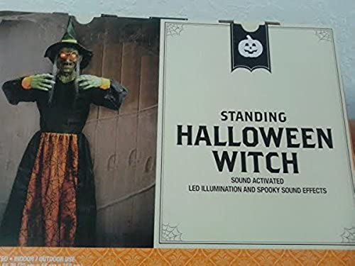 ahorra 50% -75% de descuento Standing Witch Halloween Prop Over 5 5 5 Feet Tall Sound Activated LED eyes Sounds by WLG  ganancia cero