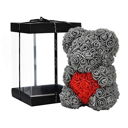 NF Rosenblumenbär - Über 250 Blumen auf jedem Rosenbären - Geschenk für...