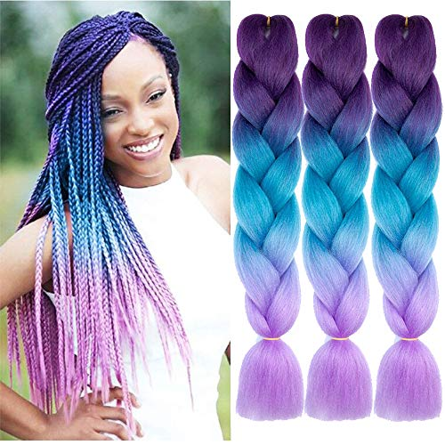 Natural Beauty Synthetic Braiding Hair Bundles