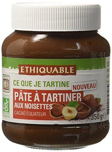 Ethiquable Pâte à Tartiner aux Noisettes Equateur Bio et Équitable 350 g Producteurs Paysans - Lot de 3