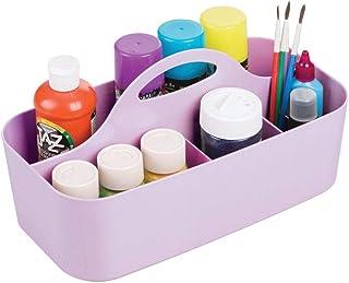 mDesign organiseur de bureau en plastique – boite de rangement pour ustensiles de bricolage et couture – panier de rangeme...