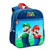 Toy Bags- Super Mario y Luichi Juguetes, Color Azul y Rojo, Grande (Toys Bags T328-830)