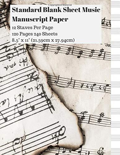Standard Blank Sheet Music Manuscript Paper