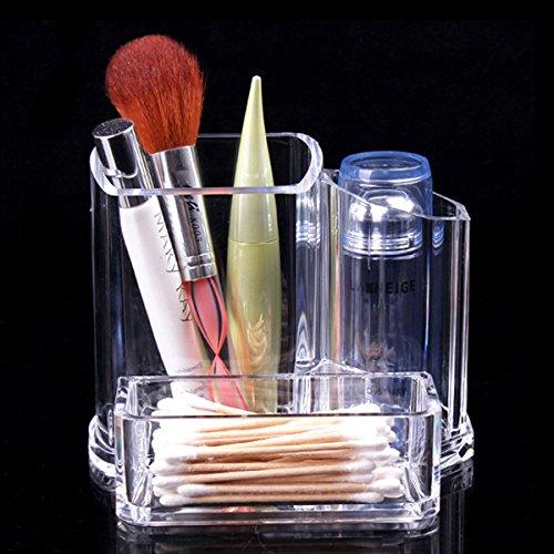TOPBATHY Clair Maquillage Organisateur Acrylique De Bureau Cosmétique Rouge À Lèvres Brosse Titulaire Maquillage Boîte De Rangement Boîte Organisateur