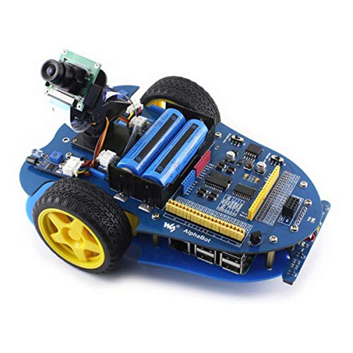 HARTI Raspberry Pi 3 Model B Smart Car Bausatz, Smart Car Robotik Plattform Linienverfolgung, Hindernisvermeidung, Geschwindigkeitsmessung, IR-Steuerung Und Lenkgetriebe/Kamera Kit