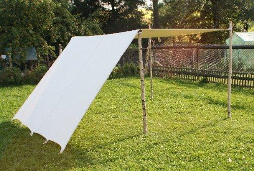 Sonnensegel 5 x 5 m LARP Reenactment Lagerplane Mittelalter Zelt Frame Tent Ritter