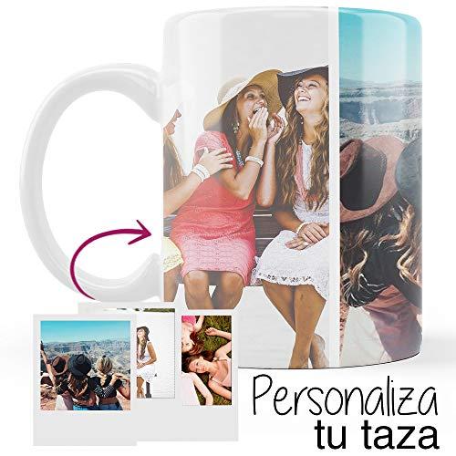 Mookase Taza Personalizada con tu Foto. Regalos Día de la Madre Personalizados. Taza Personalizada de Cerámica. Regalos Originales. Tazas de Café con Color Interior Blanco