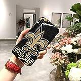 XMCJ New Orleans Saints Rugby Coque souple pour iPhone 11 Pro XS MAX 8 7 6 6S Plus X 5S SE XR...