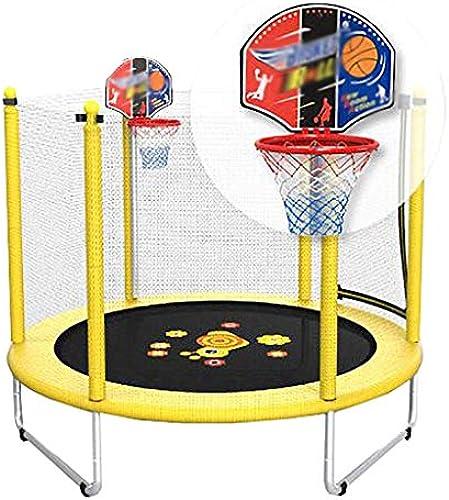 Trampolin Rundes Kinder Sch s Schneckentrampolin Mit Basketballkorb-60   Sicherheits-Pad-Geh e Anna
