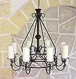 DanDiBo Kronleuchter 101318 Hängeleuchter D-60cm Deckenleuchter Kerzenständer Kerzenhalter aus Metall