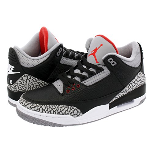 [ナイキ] AIR JORDAN 3 RETRO OG BLACK/FIRE RED/CEMENT GREY/WHITE 【BLACK CEMENT】【25.0cm~28.5cm】 [...