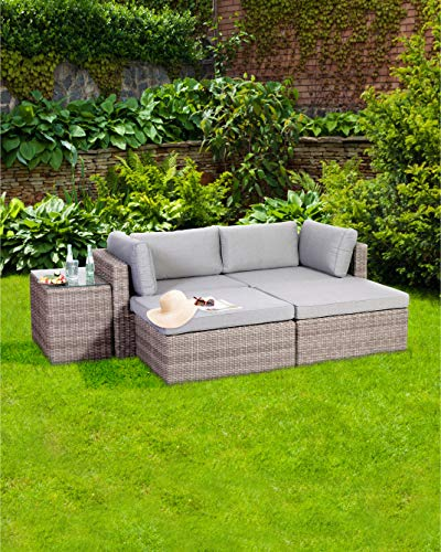 Greemotion Palma Rattan Lounge-Set, grau - 4