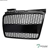 TLASP 7422438410436 For 2005 2006-2008 Audi A4 B7 Matte Black RS-Honeycomb Mesh Front Grille