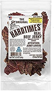 Hard Times Real Beef Jerky, The Original, No MSG, 2.25 Ounce (4 Pack)