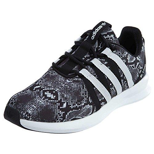adidas Originals Women's SL Loop Racer W Fashion Sneaker, Black/White/Black, 7.5 M US