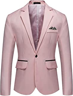 Huateng Men's Casual Blazer Slim Fit Formal Business Suit Jackets Classic Chic Blazers Coat