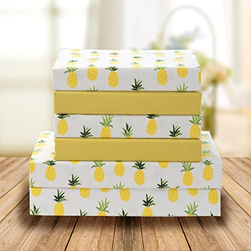 Elegant Comfort Ultra-Soft Double Brushed 6-Piece Microfiber Sheet Set Beautiful Tropical Patterns, and Vibrant Solid Colors, Luxury, All-Season Bed Sheet Set - Pineapple, Queen