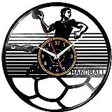 EVEVO Handball Handball Horloges Murales Disque Vinyle Disques Vinyliques Horloges Murales Vinyle Record Mur l'horloge Créatif Classique Accueil Décor Musical Handball Handball