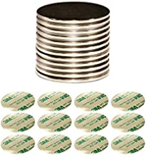 Strongest Grade N52 Neodymium Magnet Discs | Bonus 3M Double-Sided Adhesives Included | Set of 12 Large Discs - 1.26