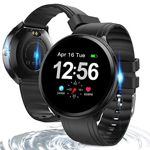 Bluetooth Smart Watch with 1.3 Inch IPS Round Touch Screen, Health & Fitness Tracker Smart Watch Heart Rate Monitor Blood Pressure Activity Watch,Sleep Monitor Pedometer for Android and iOS