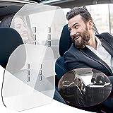 Liteness 2 Pezzi di Scudo Protettivo per Taxi Auto (60x60 Cm) - Scudo Protettivo in Plexiglass per Starnuti E Tosse Scudo Divisorio per Auto - Protezione per Conducenti E Passeggeri