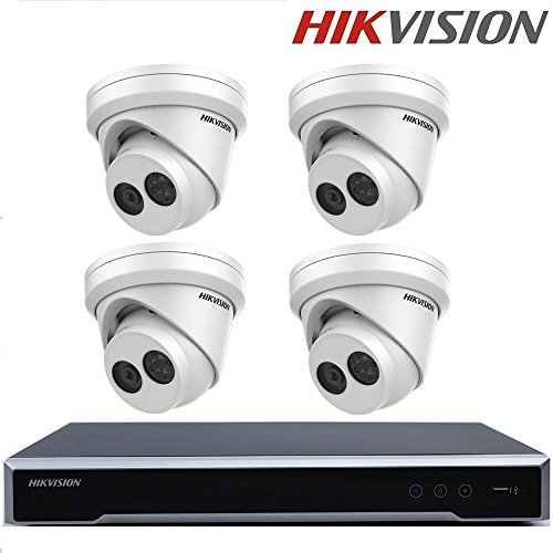 Hikvision IP camerasysteem Embedded Plug & Play 4K NVR opname met 8 megapixeln resolutie DS-2CD2385FWD-I 8MP netwerk Turret Camera + Seagate HDD