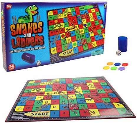 Snakes and Ladders Board Game for All Ages Fun Family Games Snakes and Ladders for 2 6 Players product image