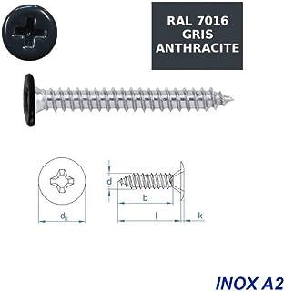 Lot de 200/vis autoperceuses 3,9/x 25/mm Acier Inox A2/avec t/ête frais/ée mal autoperceur DIN 7504/O TX 15