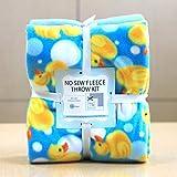 Rubber Ducky Anti-Pill No-Sew Throw Fleece Fabric Kit (50x60)