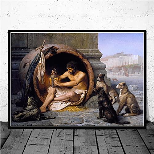 Serie de Pinturas en Lienzo más Famosa del Mundo Pintor francés Jean Leon Gerome Carteles en HD Impresiones Imagen de Arte de Pared para Sala de Estar 40x50cm (15.74x19.68 in) H-895