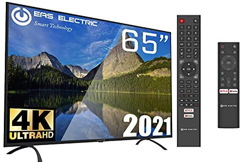 "EAS Electric | E65AN90G | Televisor Negro | Televisión 65 Pulgadas | Smart TV 65"" | LED (DLED) | Ultra HD 4K 3840 x 2160 16:9 | DVB-T/T2/C/S/S2 HEVC | WiFi | Android TV | Google Cast | USB 2 | HDMI 3"