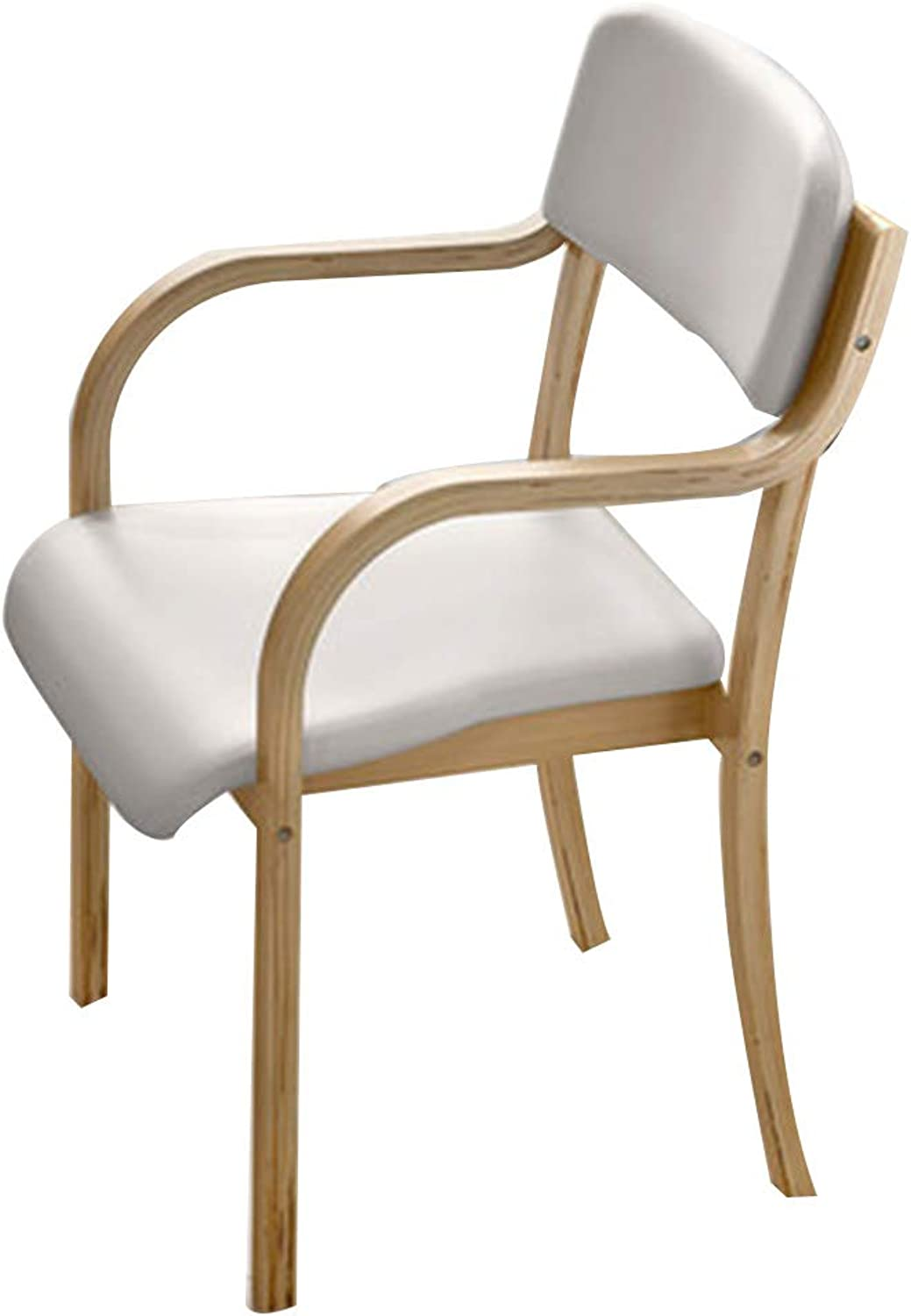 Chair Simple Chair Modern Simplicity Laminated Bentwood Frame Cotton and Linen Finish Balcony Restaurant (color   H)